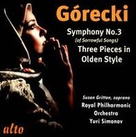 Górecki: Symphony No. 3; Three Pieces in Olden Style