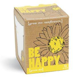 GROW ME Be Happy Sunflower Growing Kit