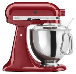 KitchenAid® KSM150PSER Artisan® Series 5-Quart Tilt-Head Stand Mixer, Empire Red