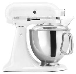 KitchenAid® KSM150PSWH Artisan® Series 5-Quart Tilt-Head Stand Mixer, White