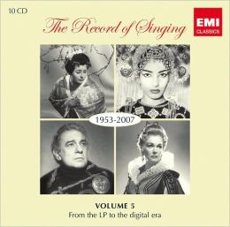 The Record of Singing Vol. 5: From the LP to the Digital Era