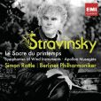 CD Cover Image. Title: Stravinsky: Le Sacre du printemps; Symphonies of Wind Instruments; Apollon musag�te, Artist: Simon Rattle
