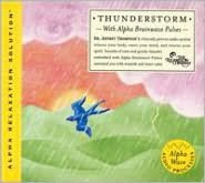 Thunderstorm with Alpha Brainwave Pulses