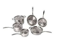 BergHOFF International 2213780A Earthchef by BergHOFF 10 pc Premium Copper Clad Cookware Set