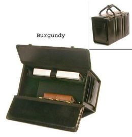 Bond Street 545412BUR Double Handle Leather Catalog Case