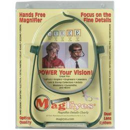 MagEyes Magnifier-Lenses #2 (1.6X) & #4 (2X) - Dark Green