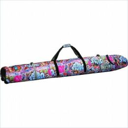 Athalon Sportsgear 360G Athalon Wheeling Double Ski Bag Padded - 190cm Graffiti