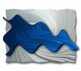 All My Walls ABS00033 Hydrodynamic Metal Wall Art