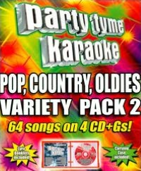 Party Tyme Karaoke: Pop, Country, Oldies Variety Pack 2