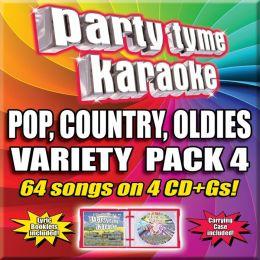 Party Tyme Karaoke - Variety Pack 4 [4 CD]