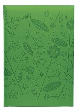 Green Floral Bound Lined Journal 5.87 X 8.25