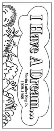 Barker Creek LL-2106 Create-To-Celebrate Bookmarks - Martin Luther King Day