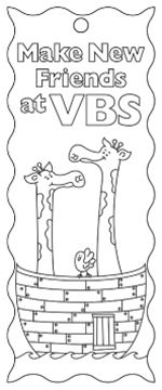 Barker Creek LL-2126 Create-To-Celebrate Bookmarks - Noahs Ark VBS