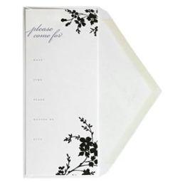 Branches Letterpress Invitations II Set of 10