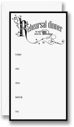 Rehearsal Dinner Fill-In Celebration Invitations Set of 10