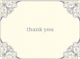 Garden Window Thank You Boxed Note Card Set of 10