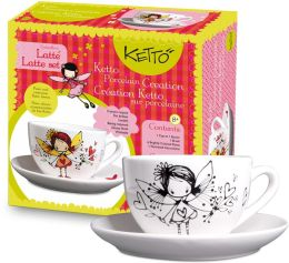KETTO Paint-it-yourself Latte Set - Fairy Theme
