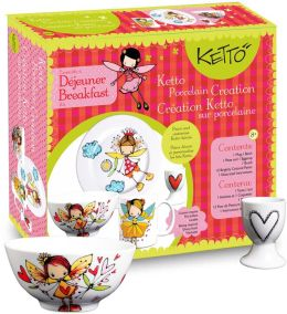 KETTO Paint-it-yourself Breakfast Set - Fairy Theme