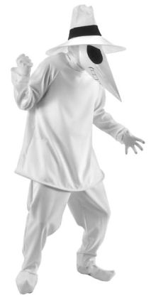 Spy Vs. Spy White Spy Adult Costume: S/M (36-40)