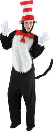 Dr. Seuss Cat in Hat Deluxe Adult Costume: S/M (6-8)