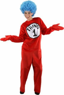 Dr. Seuss Thing 1 and 2 Adult Costume: S/M (6-8)