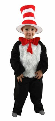 Dr. Seuss Cat in Hat Toddler / Child Costume: XS (2T-4T)