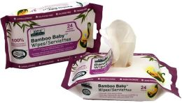 Aleva Naturals Bamboo Baby Wipes Travel Pack, 24ct