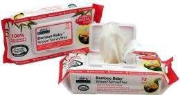 Aleva Naturals Bamboo Baby Wipes, Sensitive, 72ct