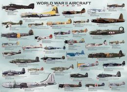 WWII Aircraft Chart 500 Piece Oversize Puzzle