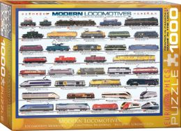 Modern Locomotives 1000 Piece Puzzle