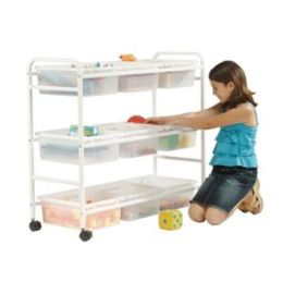 Copernicus CC005-9-C Multi-Purpose Cart with Clear Open Tubs