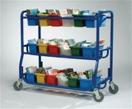 Copernicus LW430-18 Library on Wheels with 18 Small Tubs
