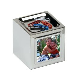 Silver Cube Magnetic Clip and Photo Holder