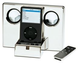Polished Silver MP3-Player with Remote Control