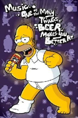 Simpsons - Beer Makes You Better Poster