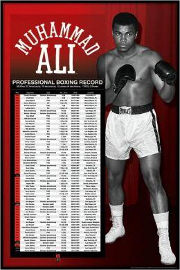 Muhammad Ali - Pro Boxing Record - Poster