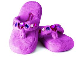 Be-Jeweled Slippers Fuchsia Size 3/4