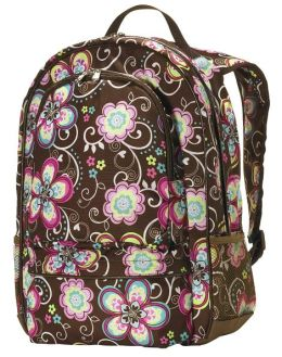 Bliss Brown Flower Backpack