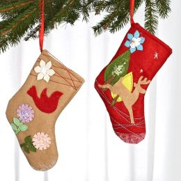 Felt Stocking Ornament Set