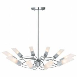 Access Lighting 50510-BS-FST Solar 10 Light Chandelier - Brushed Steel