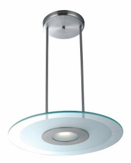 Access Lighting 50484-BS-CFR Silica 1 Light Pendant - Brushed Steel
