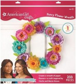 American Girl Crafts Paper Flower Wreath