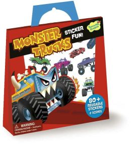 Monster Trucks Reusable Sticker Totes