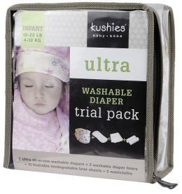 Kushies Ultra Diaper Trial Pack (10-22 lbs)