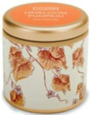 Pumpkin Scented Mini Pillow Candle Tin