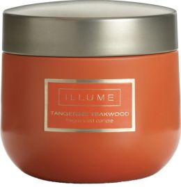 Tangerine Teakwood Candle Essential Tin