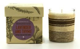 Lavender Thyme Botanical Glass Candle