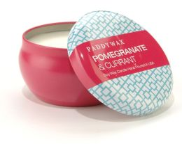 Pomegranate and Current Pattern Play Tin Candle 6.5 oz