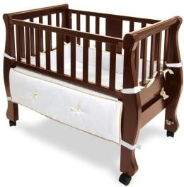 Arms Reach Concepts Co-Sleeper® Sleigh Bed Bassinet, Cherry