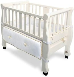 Arms Reach Concepts Co-Sleeper Sleigh Bed Bassinet White